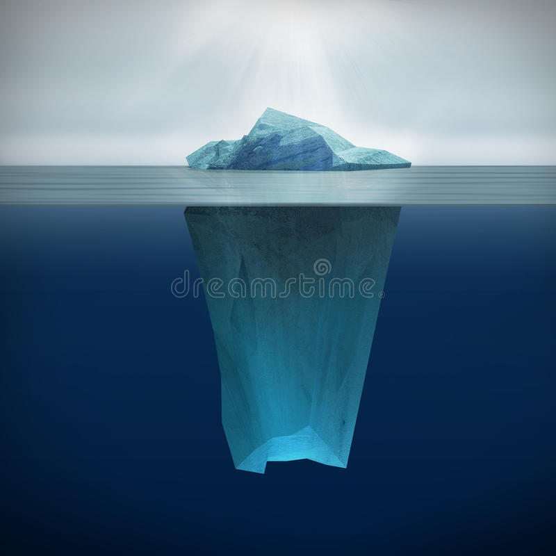 Ijsberg vector illustratie