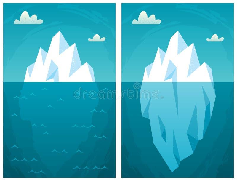 ijsberg stock illustratie