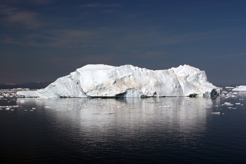 Ijsberg in de Baai van de Disco, Ilulissat royalty-vrije stock fotografie