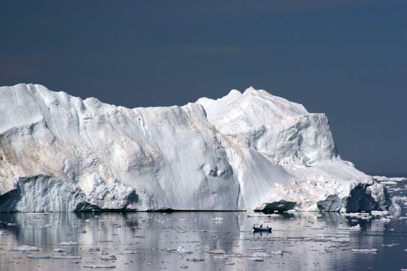 Ijsberg in de Baai van de Disco, Ilulissat stock foto's