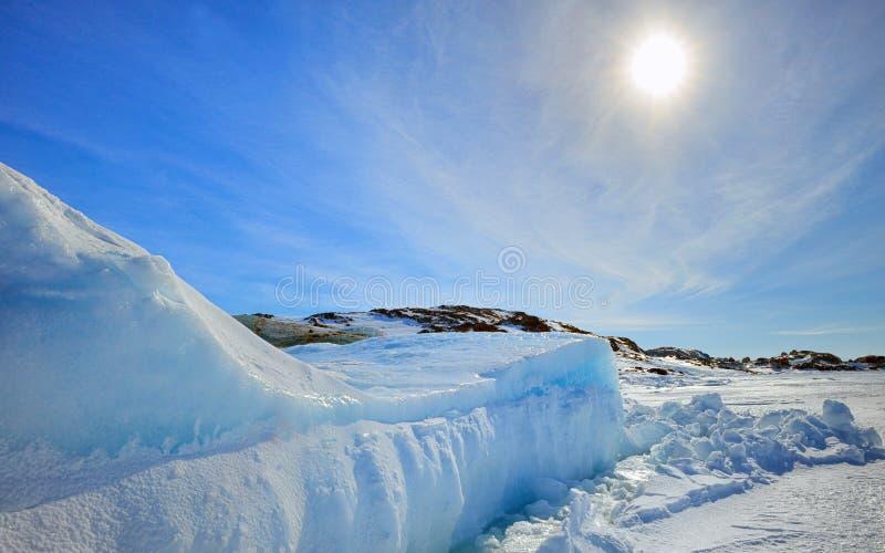 Ijsberg in Groenland royalty-vrije stock afbeeldingen