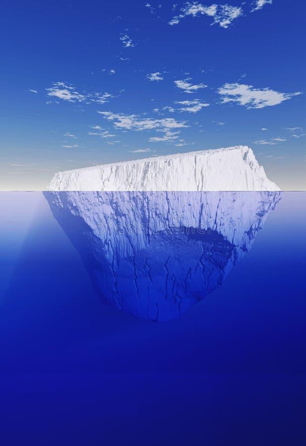 Ijsberg hierboven en hieronder stock illustratie
