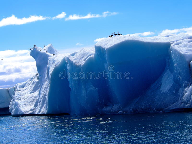 Ijsberg IJsland royalty-vrije stock afbeelding