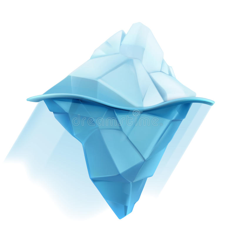 Ijsberg vectorpictogram stock illustratie