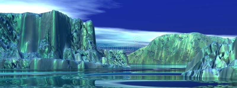 Ijsbergen royalty-vrije illustratie