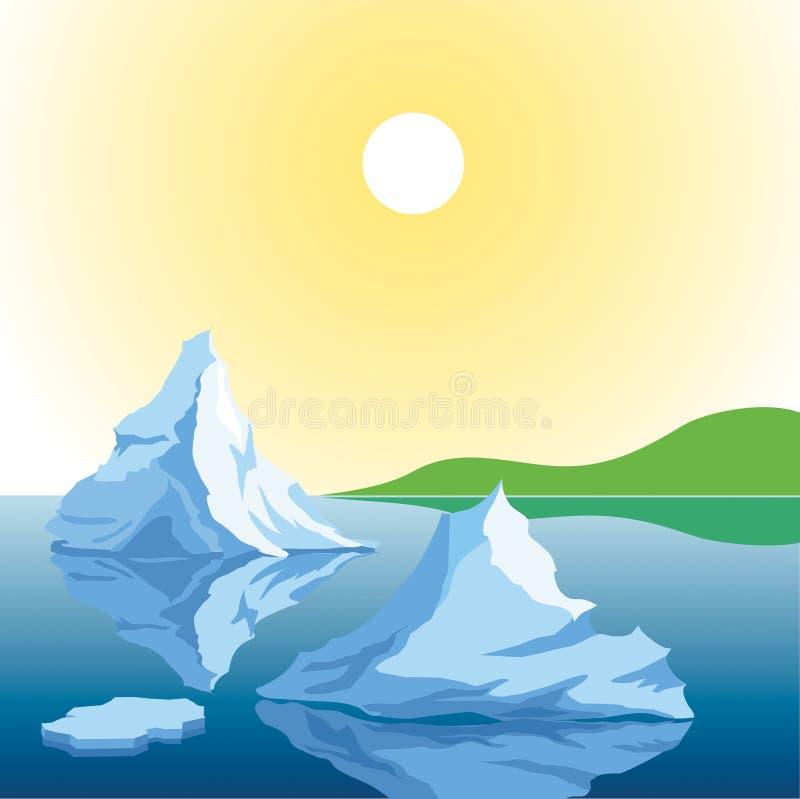 Ijsbergen stock illustratie