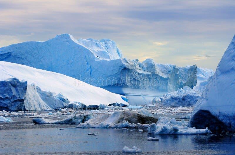 Ijsbergen in Groenland 22 stock foto