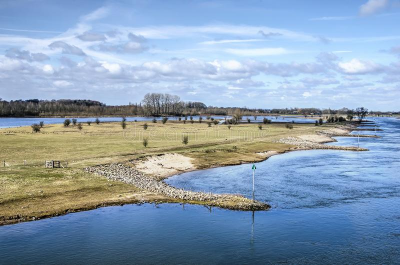 IJsel河和Ossenwaard自然保护 免版税库存照片