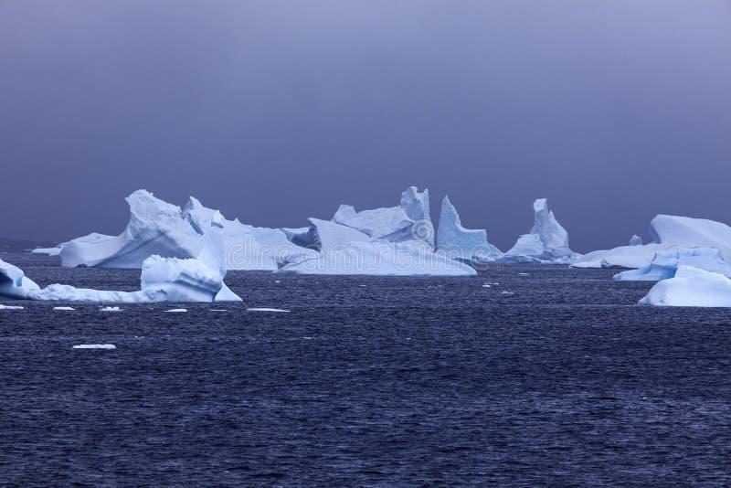 Ijsfloatin op Antarctische wateren royalty-vrije stock foto