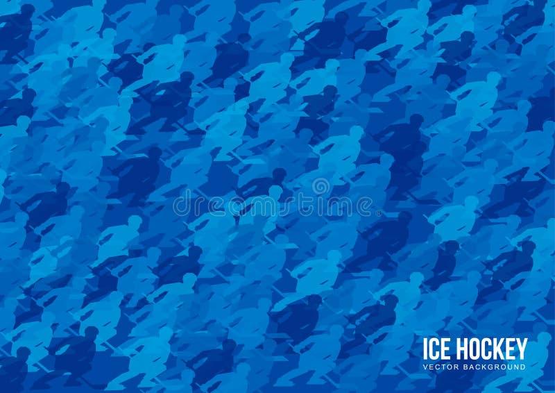 Ijshockey vectorachtergrond stock illustratie