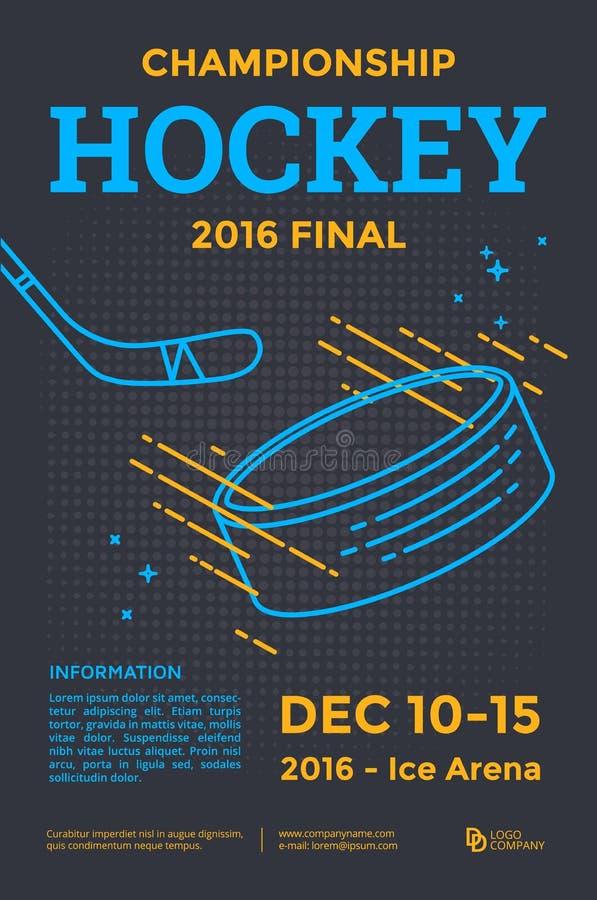 Ijshockeyaffiche stock illustratie