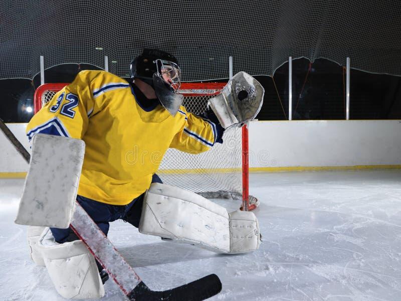 Ijshockeykeeper stock fotografie