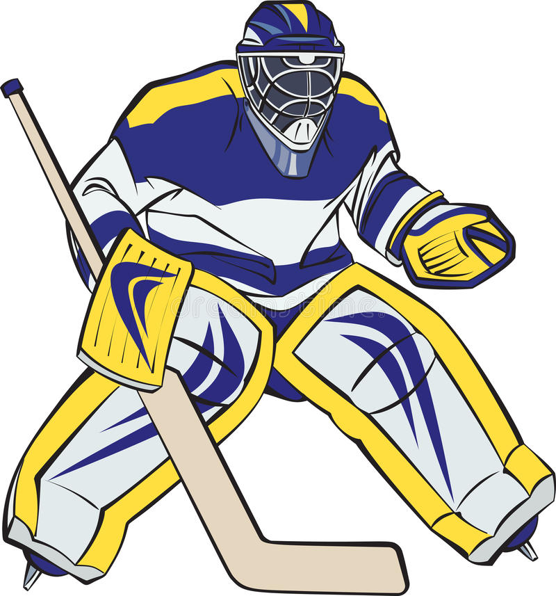 Ijshockeykeeper vector illustratie