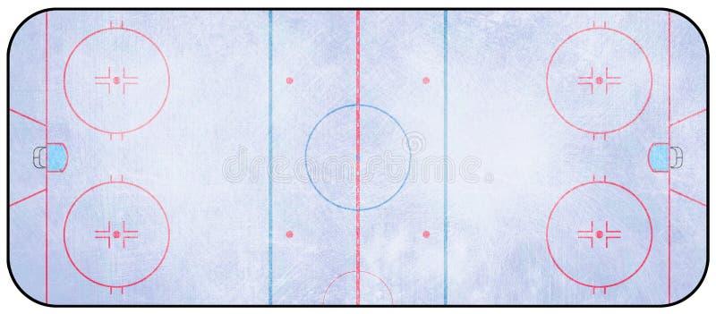 Ijshockeypiste stock illustratie