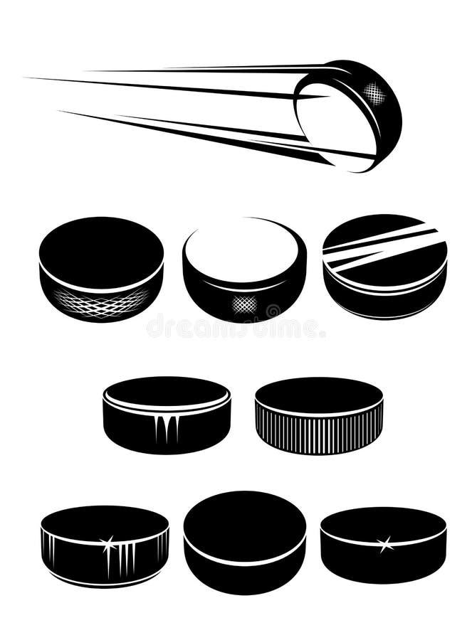 Ijshockeypucks vector illustratie
