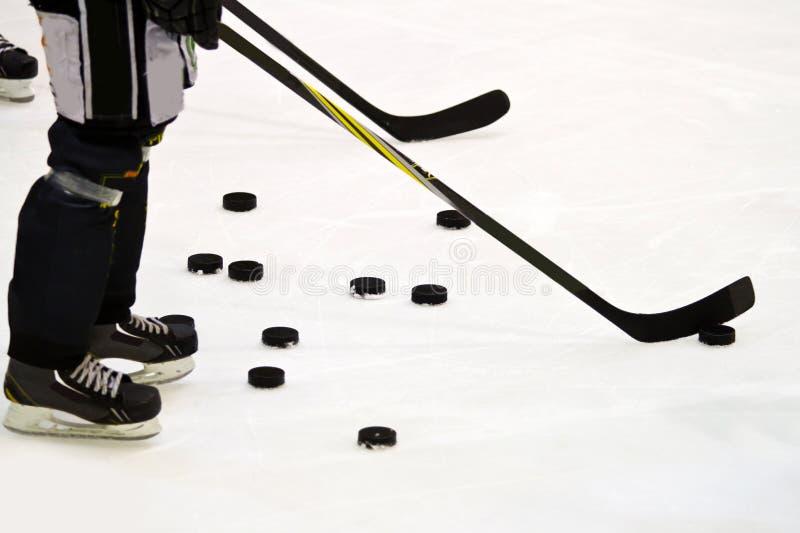 Ijshockeyspeler stock foto's