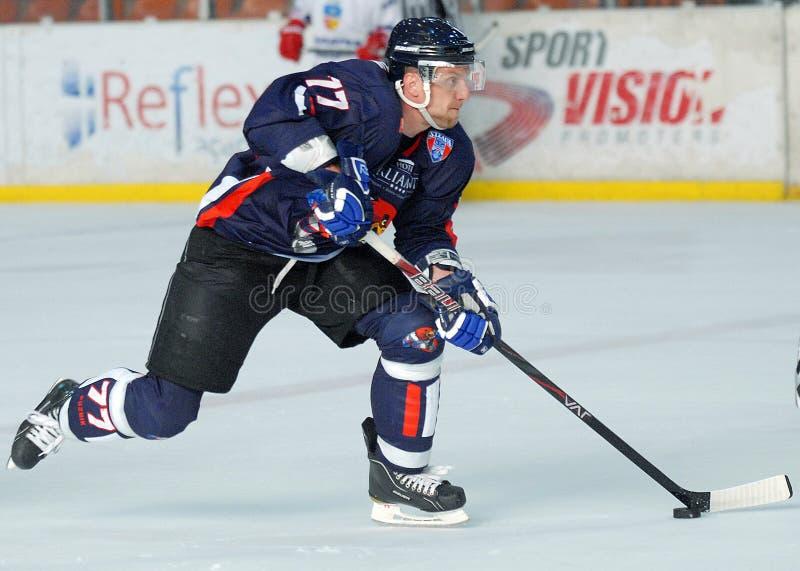 Ijshockeyspeler royalty-vrije stock foto
