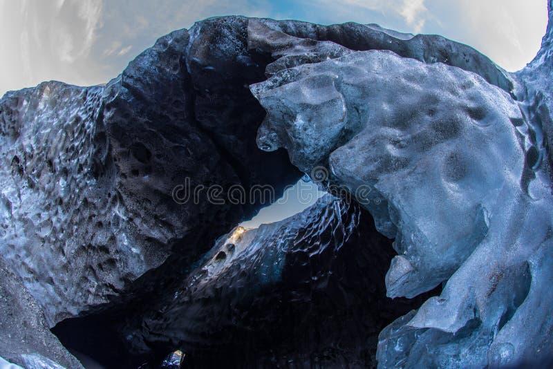 Ijshol in IJsland royalty-vrije stock fotografie