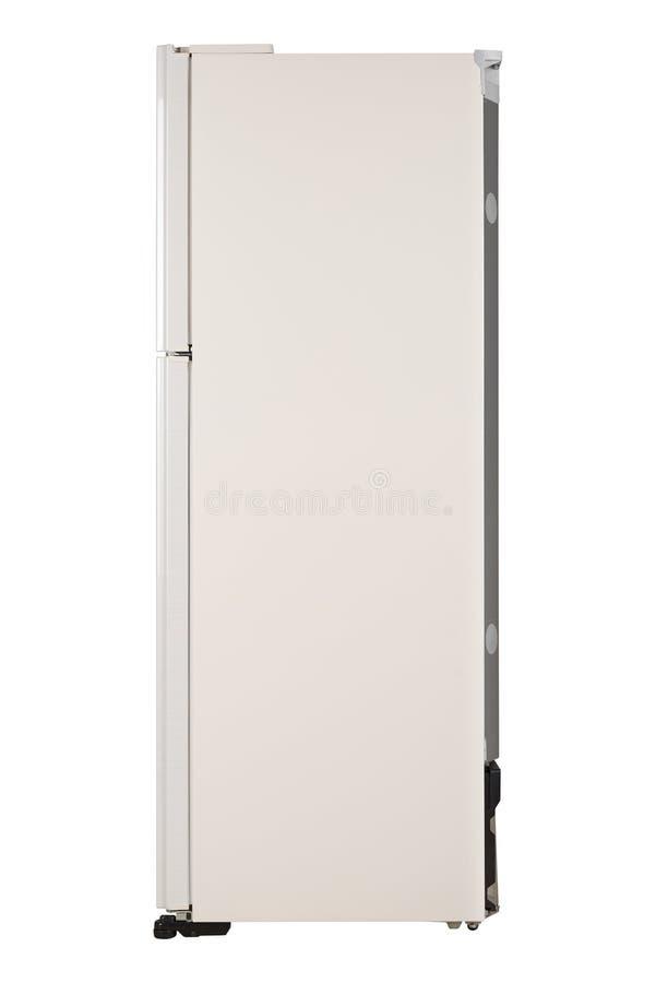 Ijskast op witte achtergrond wordt ge?soleerd die Moderne Keuken en Binnenlands Major Appliances royalty-vrije stock foto's