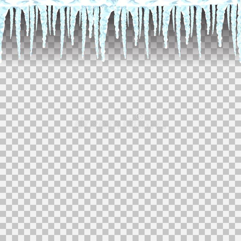 Ijskegels naadloos patroon stock illustratie