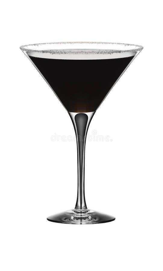 Ijskoud glas van gouden cocktail stock afbeelding