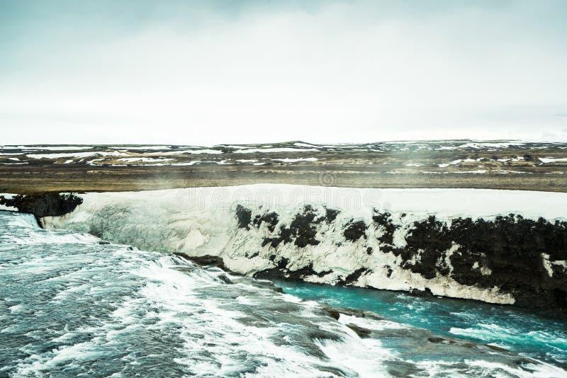 Ijskoud water in IJsland stock afbeelding