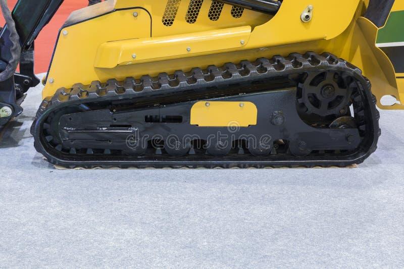 ijskrappen in tractor/graafwerktuig/Dichte omhooggaand stock foto