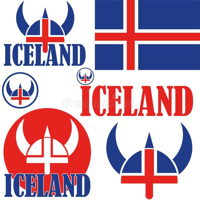 ijsland royalty-vrije illustratie