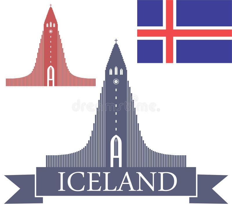 ijsland vector illustratie