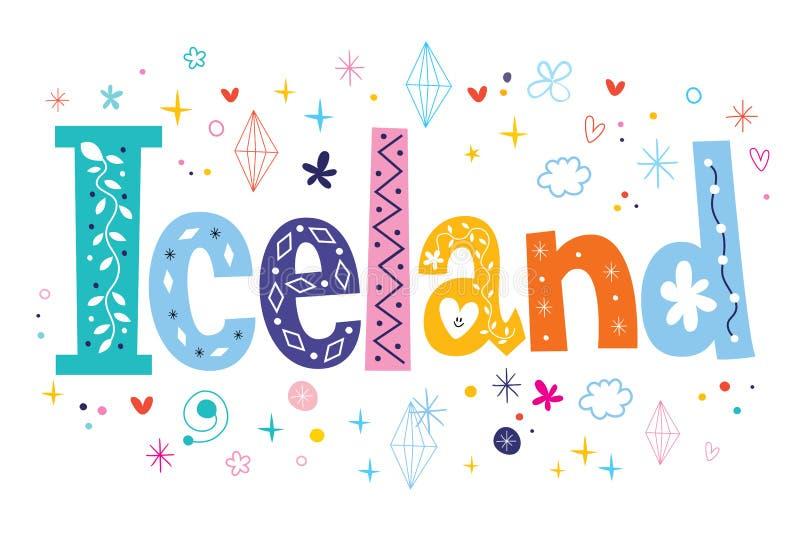 ijsland stock illustratie