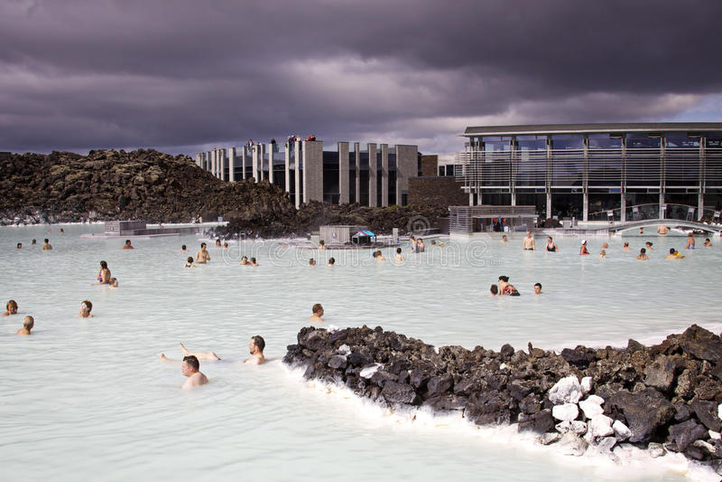 IJsland: Blauwe lagune stock foto's