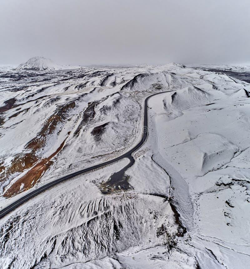 IJsland dat van bovengenoemd wordt gezien - het noorden geothermisch gebied 6 royalty-vrije stock fotografie