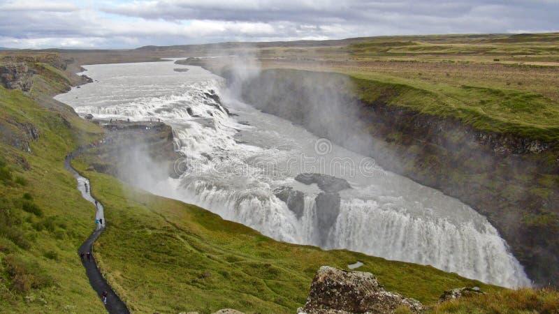 IJsland, Gouden Cirkel en Gullfoss royalty-vrije stock afbeelding