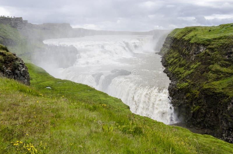 IJsland Gouden cirkel-Gullfoss royalty-vrije stock afbeeldingen