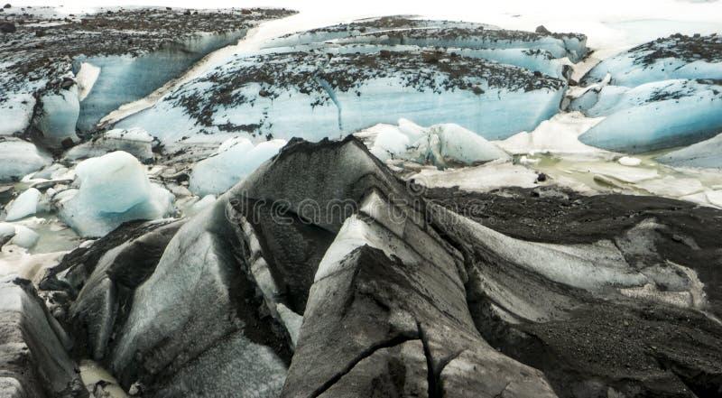 Ijslandse Meningen - gletsjer dichte omhooggaand stock fotografie