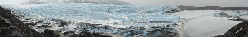 Ijslandse Meningen - gletsjerpano stock afbeeldingen