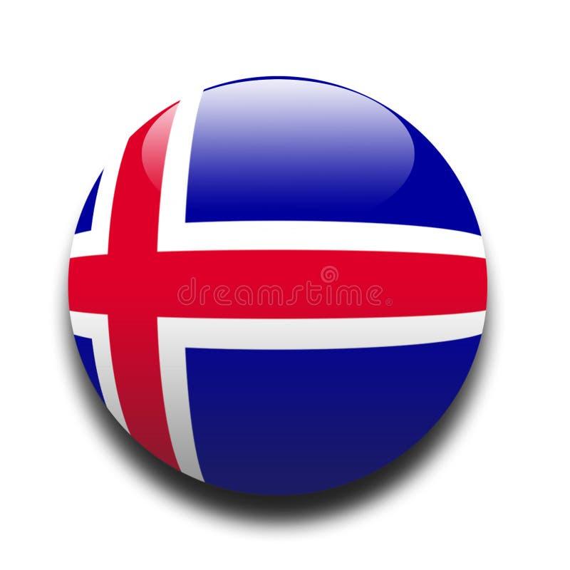 Ijslandse vlag vector illustratie
