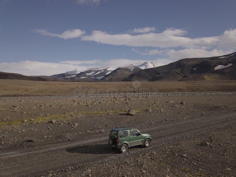 Ijslandse wilde landschapsmening adembenemend IJsland stock fotografie