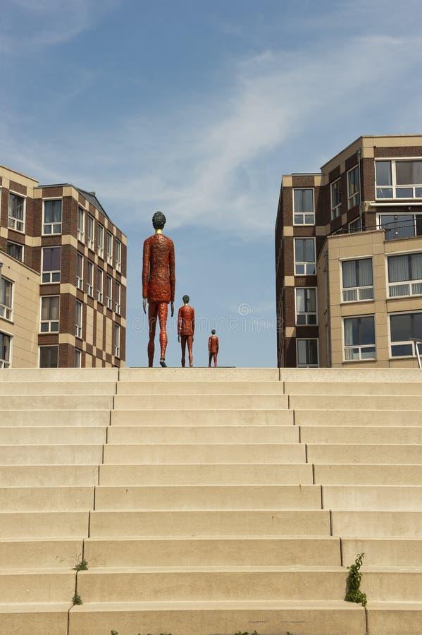 IJssel,荷兰的奎伊在Doesburg的 免版税图库摄影
