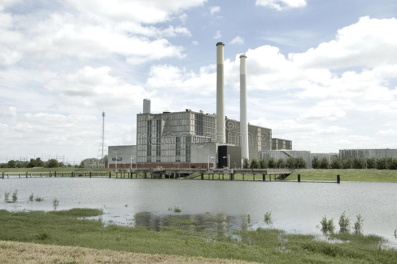 IJsselcentrale Zwolle Elektrizität lizenzfreies stockfoto
