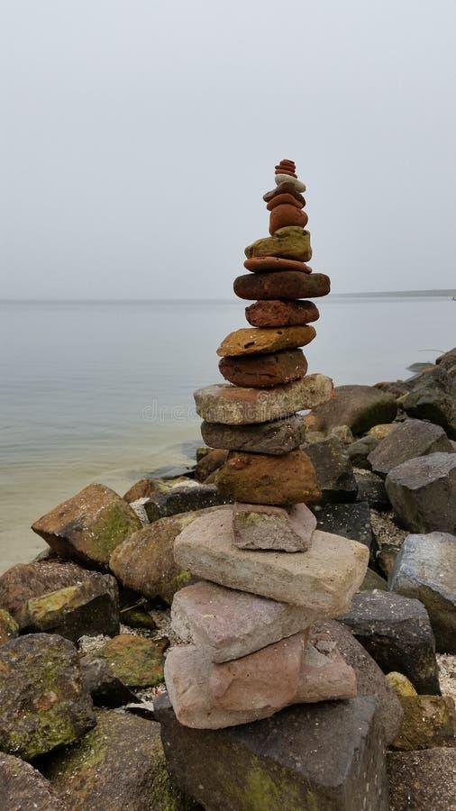 Ijsselmeer石头 库存照片