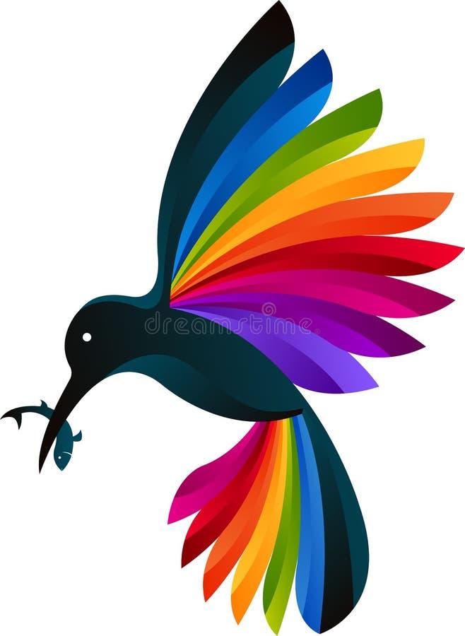 Ijsvogelembleem stock illustratie