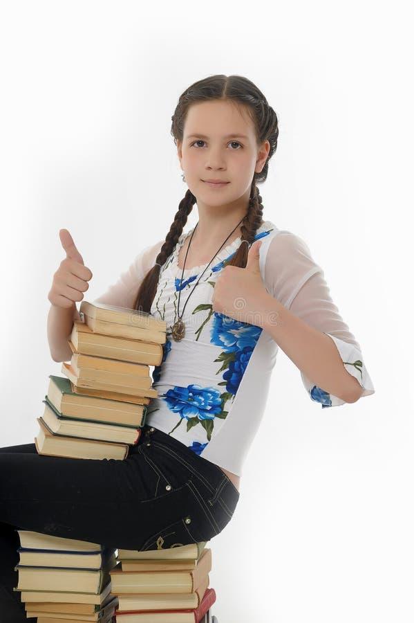 Ijverig schoolmeisje royalty-vrije stock afbeelding