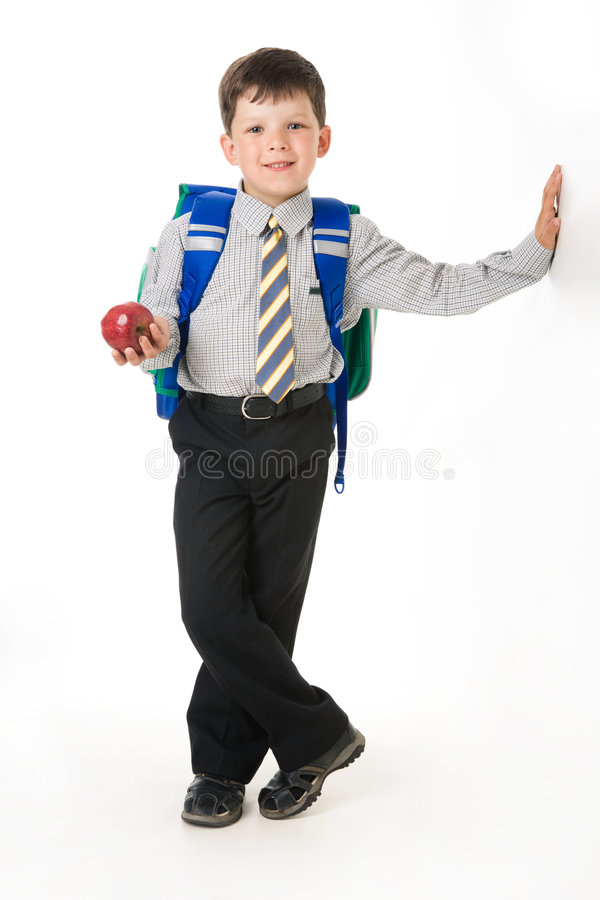 Ijverige jongen royalty-vrije stock afbeelding
