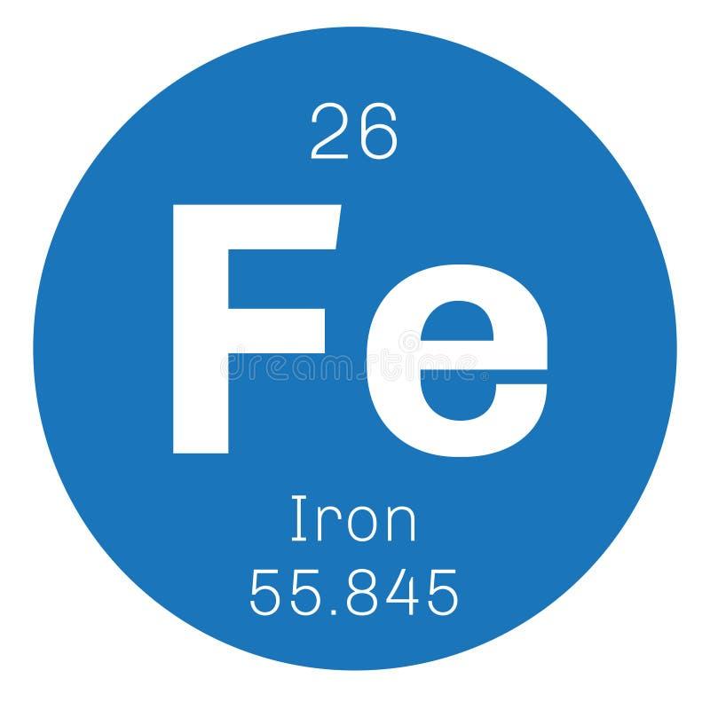 Ijzer chemisch element royalty-vrije illustratie