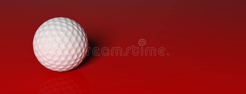 Ijzer dat golfbal in motie raakt royalty-vrije illustratie