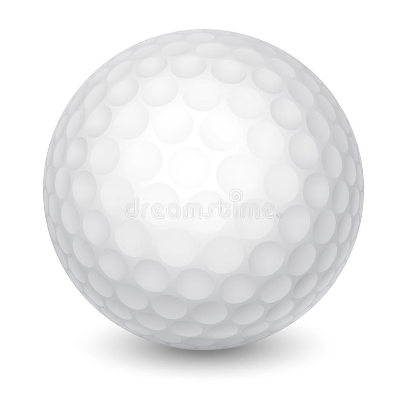 Ijzer dat golfbal in motie raakt vector illustratie