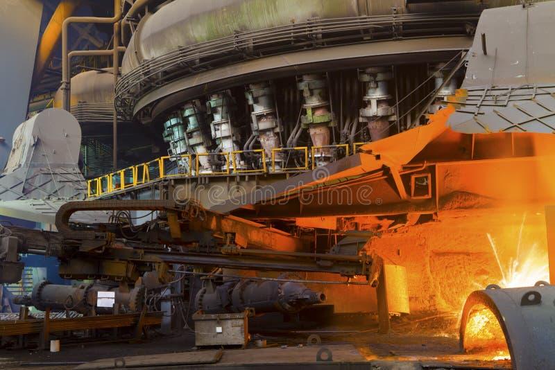 Ijzer- en staalindustrie stock foto's