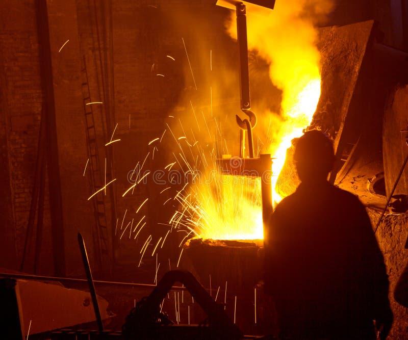 Ijzer- en staalindustrie royalty-vrije stock fotografie