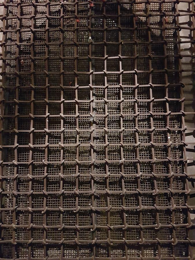 ijzerbars van een kasteel stock foto